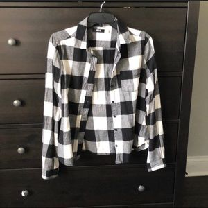 Black and white flannel urban outfitters